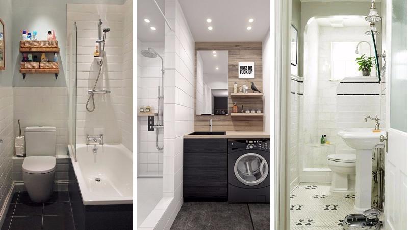 24 id es pour am nager une petite salle de bain de mani re fonctionnelle. Black Bedroom Furniture Sets. Home Design Ideas