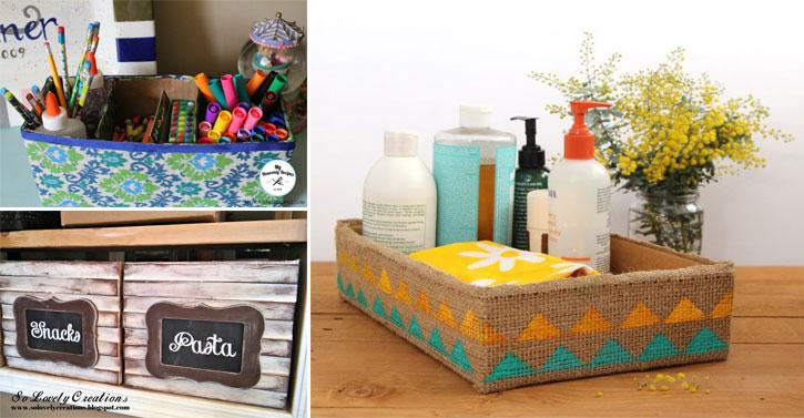 13 rangements faire vous m me avec une bo te en carton des id es. Black Bedroom Furniture Sets. Home Design Ideas