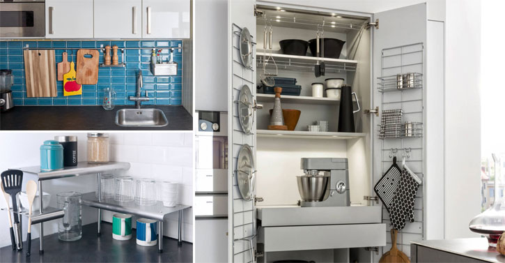 15 astuces pour optimiser l 39 espace d 39 une petite cuisine des id es. Black Bedroom Furniture Sets. Home Design Ideas