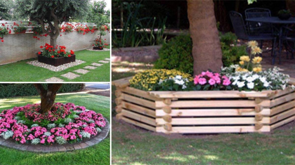 Aménagement D Un Parterre De Fleurs 15 décorations à réaliser tout autour de votre arbre de jardin