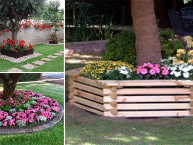 15 décorations à réaliser tout autour de votre arbre de jardin