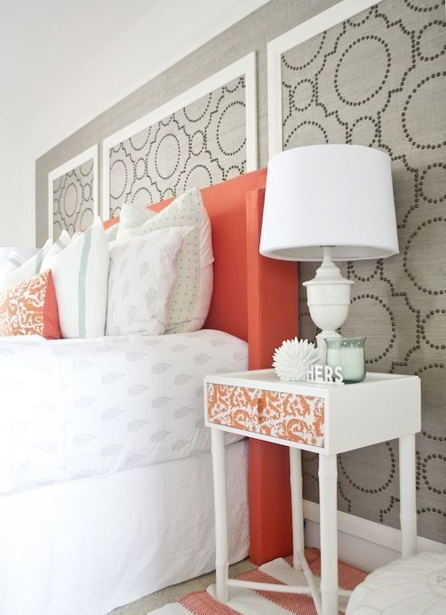 les 12 plus belles inspirations pour r aliser un mur d 39 accent en tissu. Black Bedroom Furniture Sets. Home Design Ideas