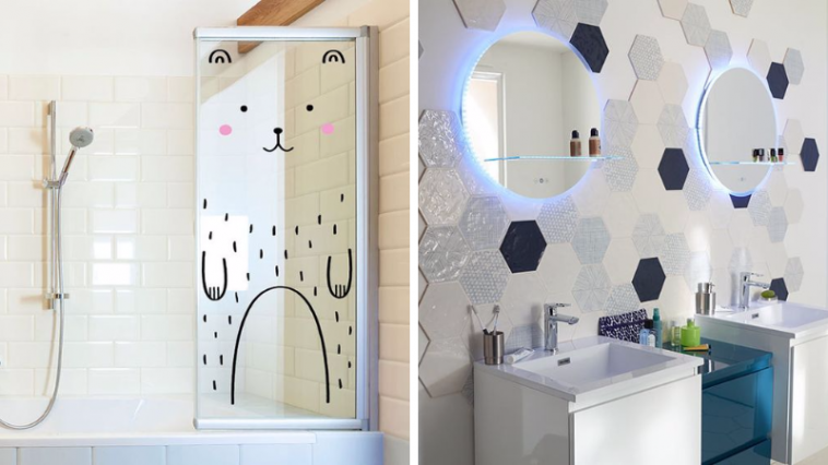 15 id es ludiques pour d corer une salle de bain d 39 enfants. Black Bedroom Furniture Sets. Home Design Ideas