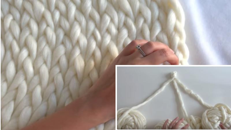 tuto tricotez un tapis moelleux avec les mains. Black Bedroom Furniture Sets. Home Design Ideas
