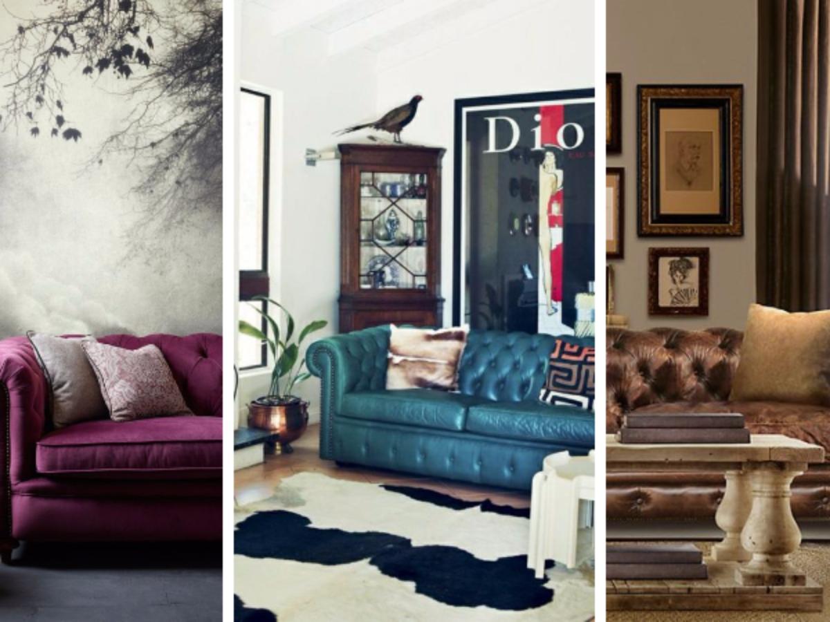 18 salons « so british » : le retour en force du canapé Chesterfield
