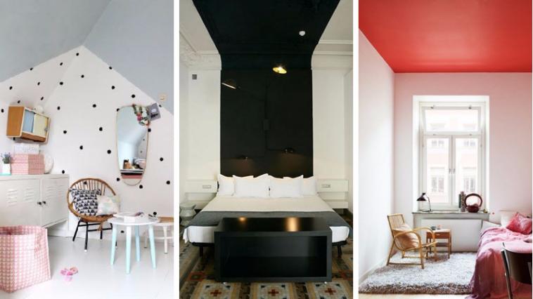 Superieur 12 Idées Pour Oser Peindre Un Plafond En Couleur