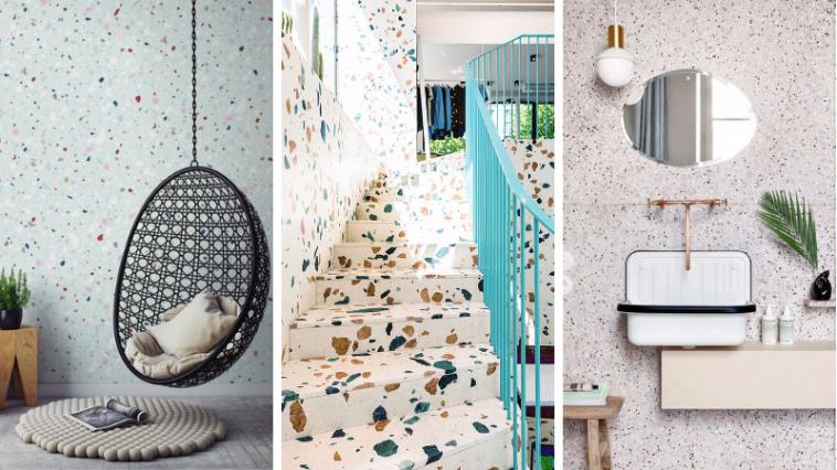 les 17 plus belles id es en terrazzo la grande tendance. Black Bedroom Furniture Sets. Home Design Ideas