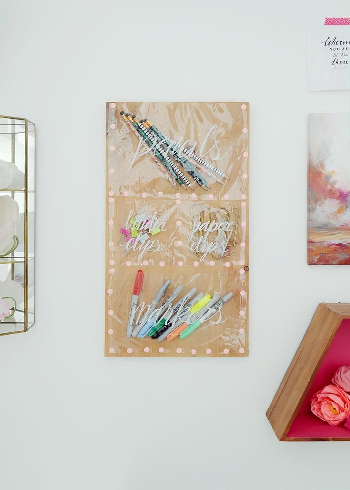 Tuto cr ez un organisateur mural esth tique et pratique des id es Creation bois objet pratique esthetique