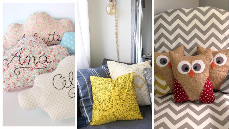 19 belles id es pour customiser vos coussins. Black Bedroom Furniture Sets. Home Design Ideas