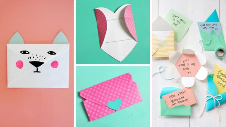 8 mod les pour cr er l 39 enveloppe qui recouvrira vos plus belles cartes des id es. Black Bedroom Furniture Sets. Home Design Ideas