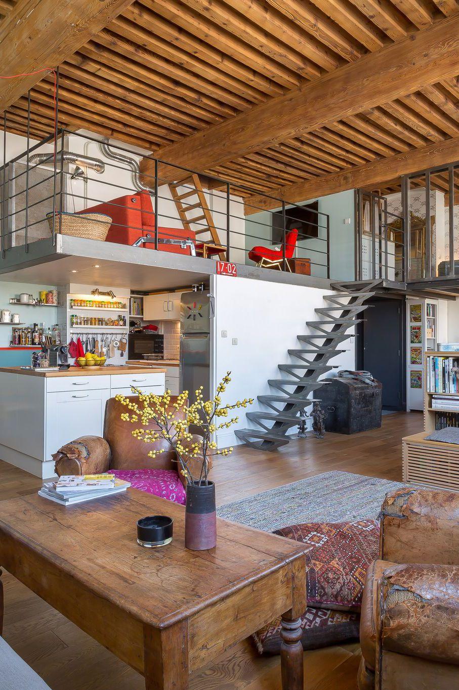 Avant apr s regardez cette belle r novation d 39 un ancien atelier lyonnais - Cuisine a et z ...