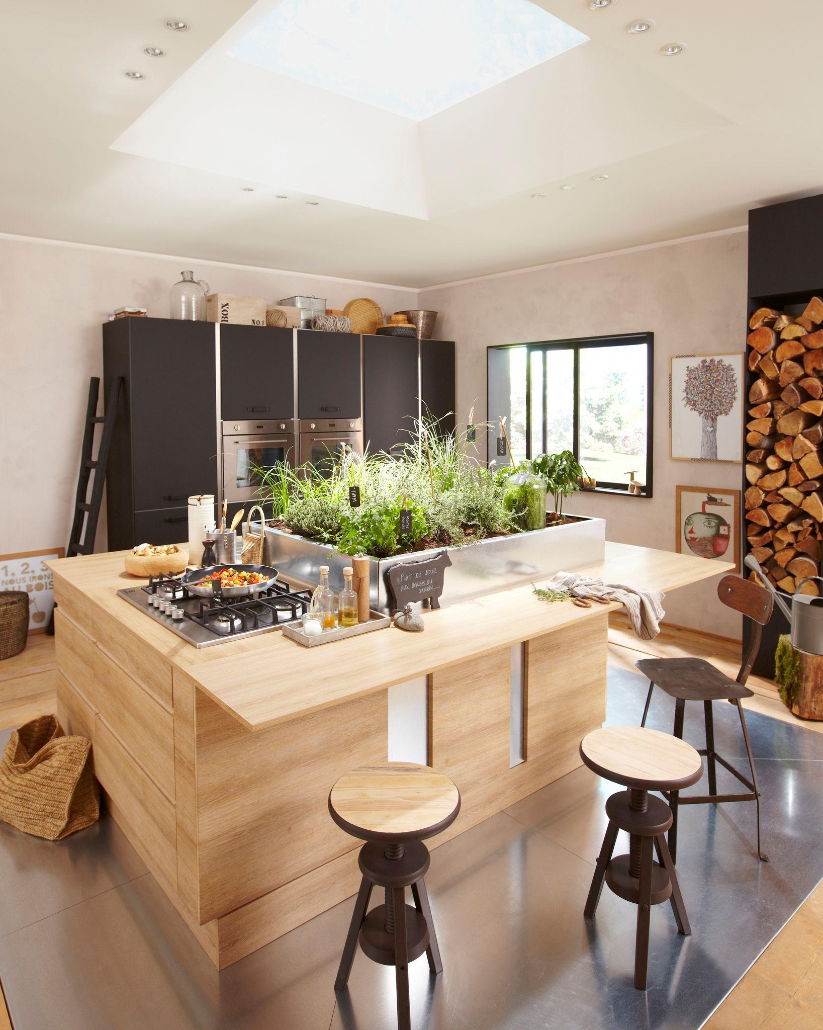 19 mani res d 39 inviter le bois dans une cuisine des id es. Black Bedroom Furniture Sets. Home Design Ideas