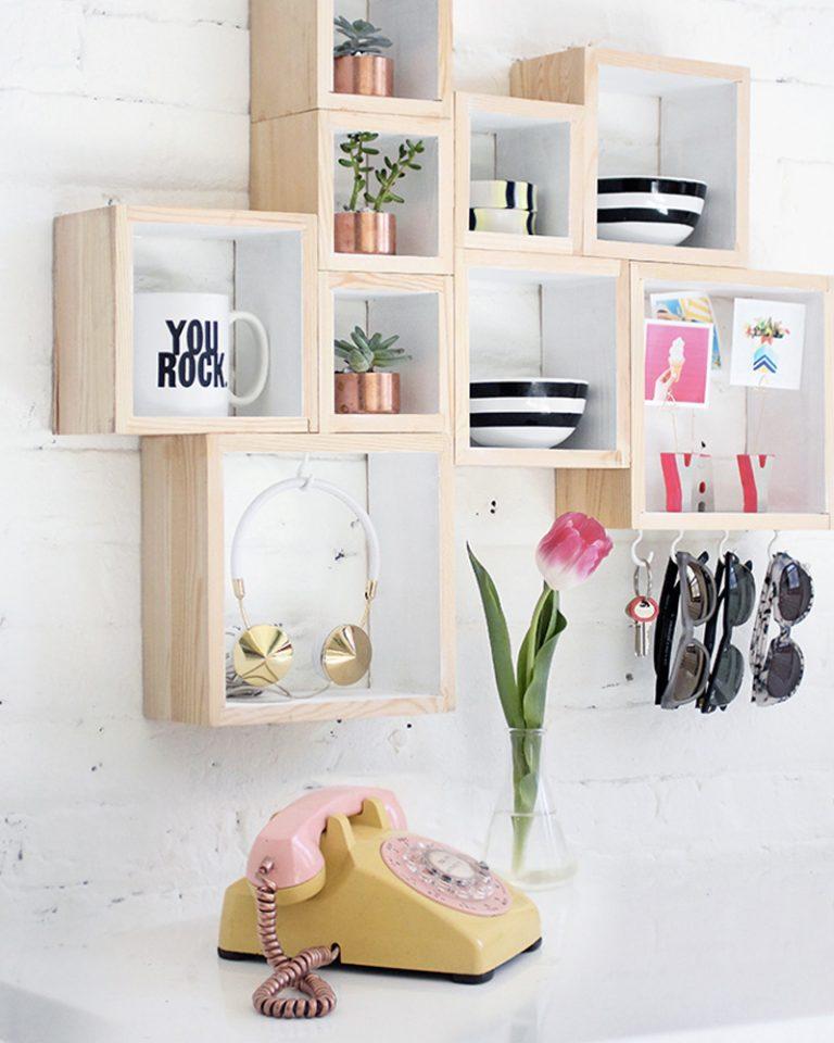 15 nouvelles id es diy pour recycler des caisses en bois. Black Bedroom Furniture Sets. Home Design Ideas