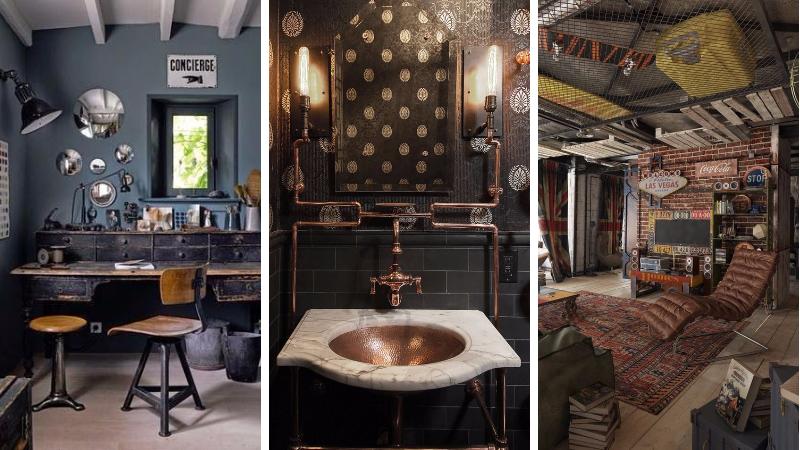5 r gles suivre pour r aliser une d co steampunk. Black Bedroom Furniture Sets. Home Design Ideas