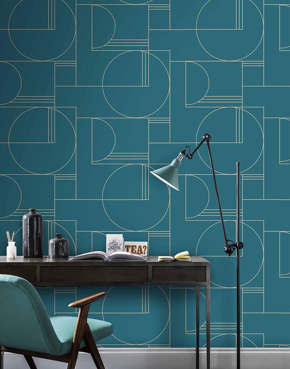 24 int rieurs qui ont os le papier peint graphique. Black Bedroom Furniture Sets. Home Design Ideas