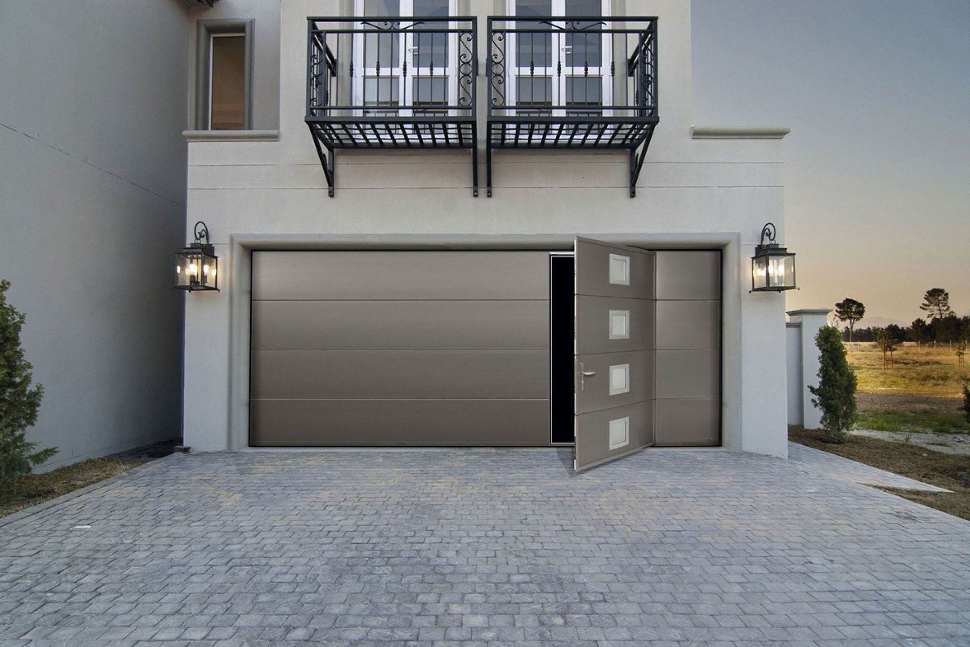 17 inspirations pour une porte de garage qui ne manque pas de cachet. Black Bedroom Furniture Sets. Home Design Ideas