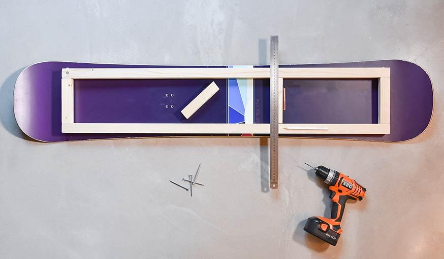 tuto fabriquez un banc avec un snowboard des id es. Black Bedroom Furniture Sets. Home Design Ideas