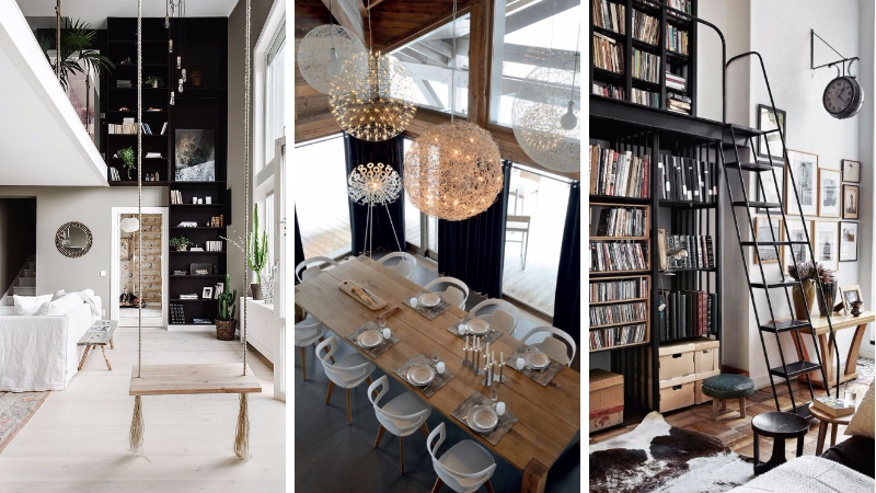 13 conseils pour am nager une pi ce avec une belle hauteur sous plafond des id es. Black Bedroom Furniture Sets. Home Design Ideas