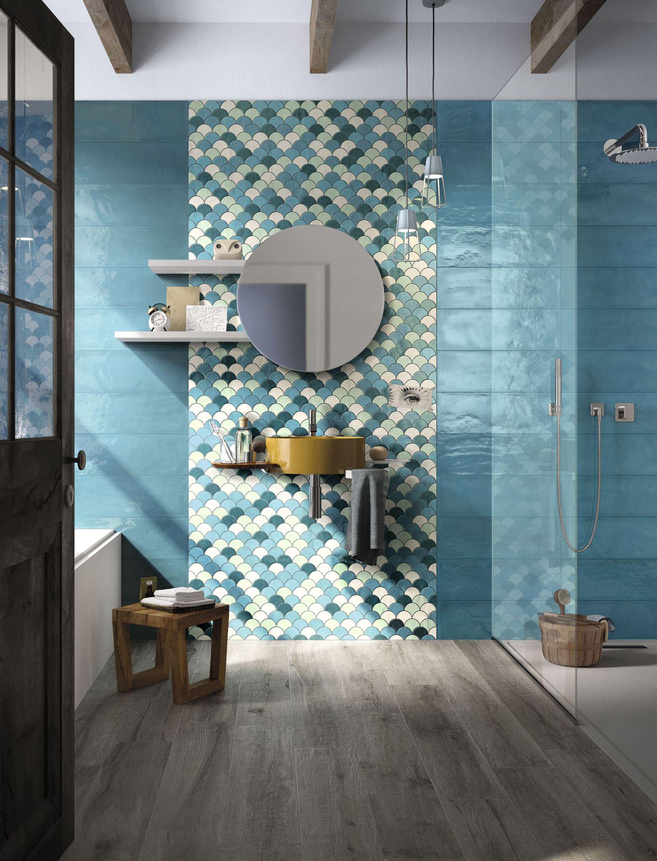 15 inspirations pour choisir sa mosa que de salle de bains - Mosaique sol salle de bain ...