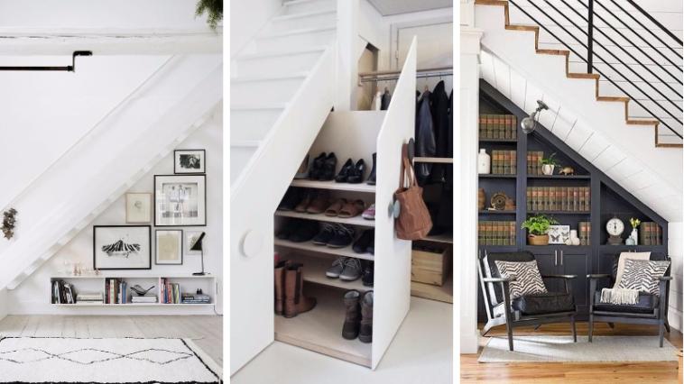 17 bonnes fa ons d 39 am nager un espace sous votre escalier des id es. Black Bedroom Furniture Sets. Home Design Ideas