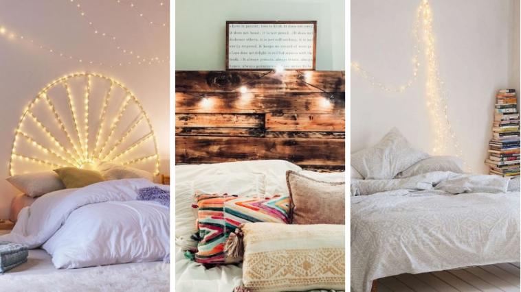29 id es pour r aliser une t te de lit lumineuse. Black Bedroom Furniture Sets. Home Design Ideas