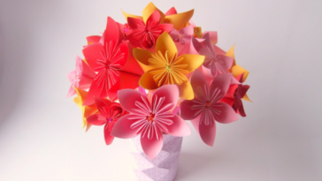 bouquet fleurs origami