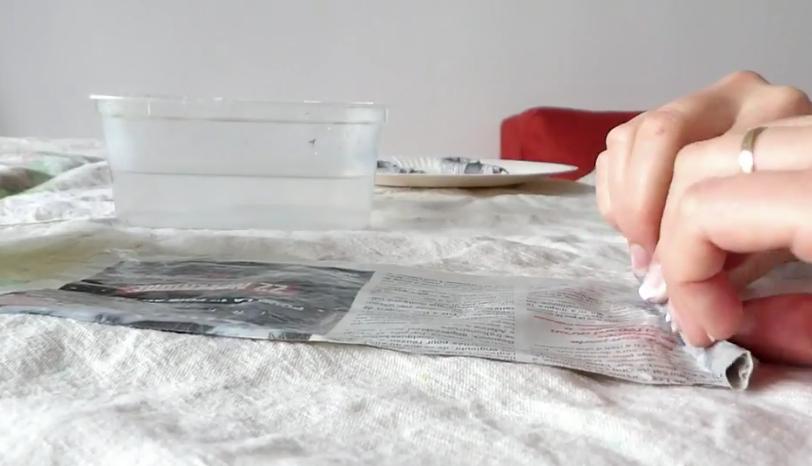 sucre d'orge papier mâché