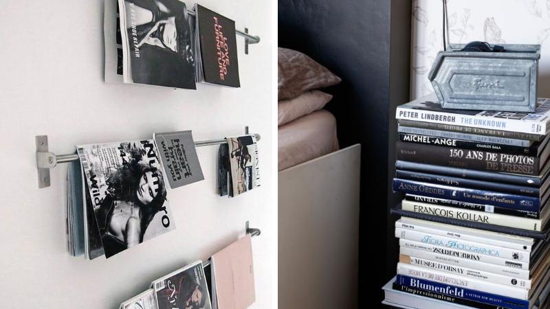 rangement 14 bonnes id es pour ranger ses livres et magazines des id es. Black Bedroom Furniture Sets. Home Design Ideas