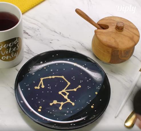 assiette galaxie
