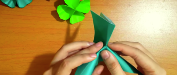 trèfle origami