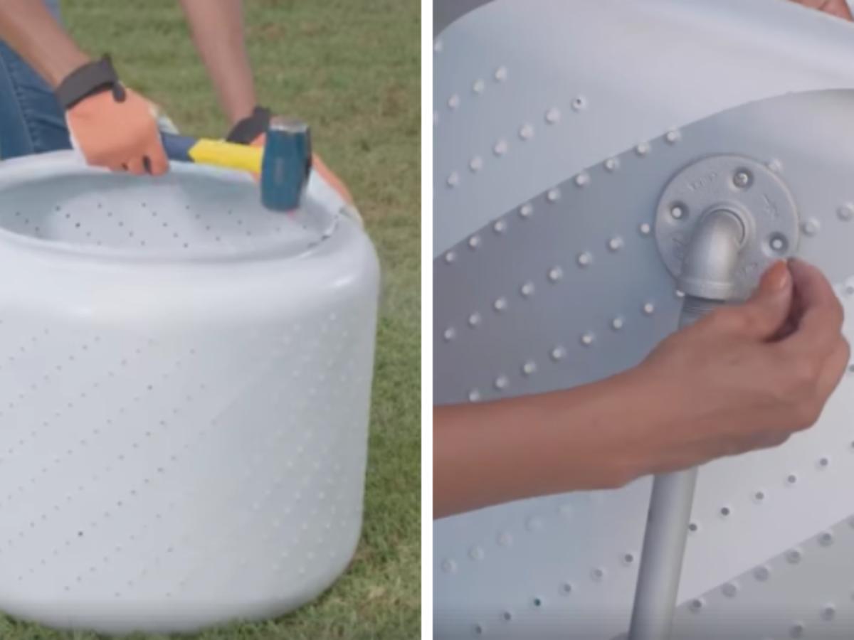 Fabriquer Socle Machine À Laver tuto : réalisez un petit barbecue avec un tambour de machine