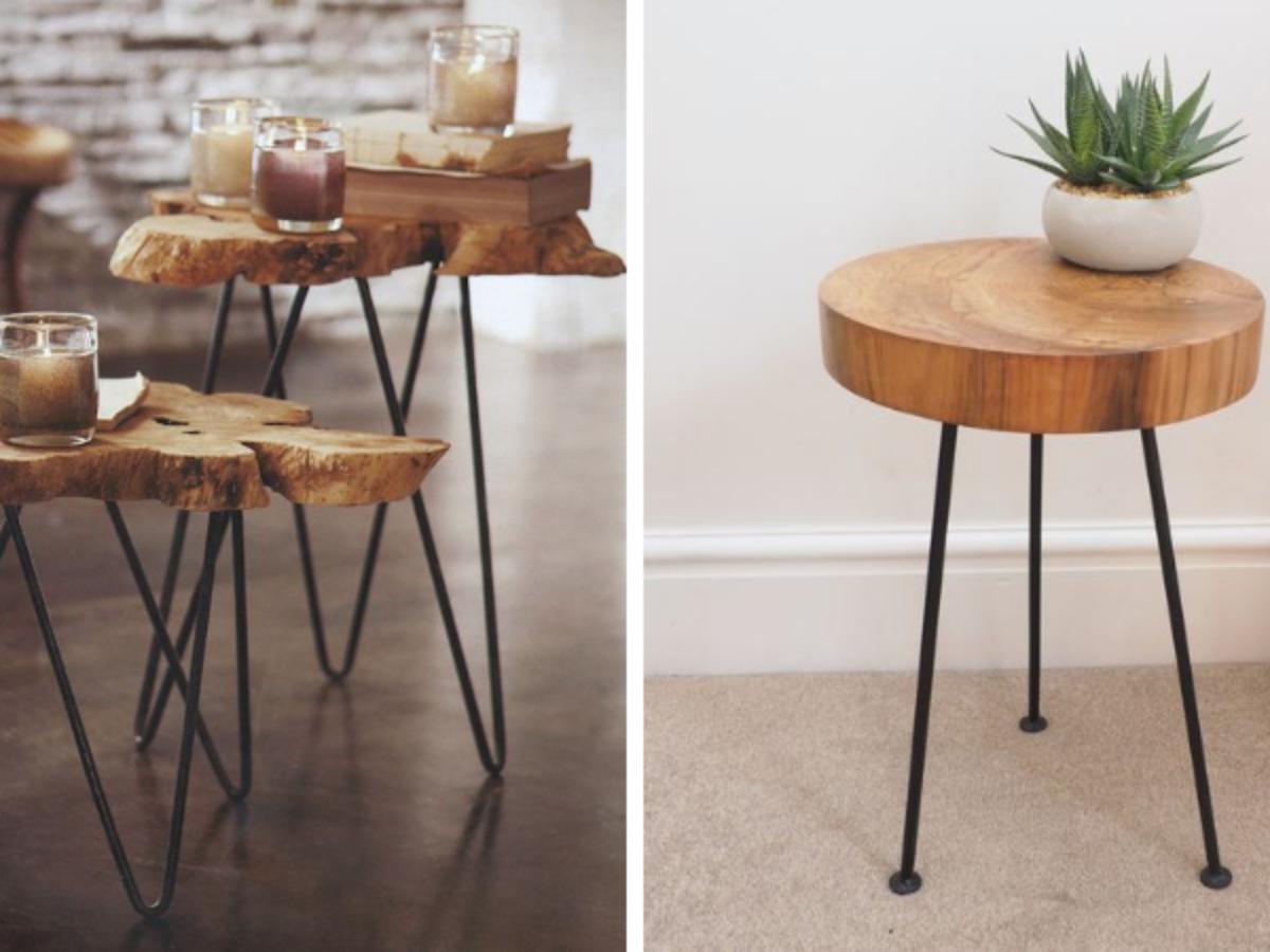 Table Basse Avec Souche D Arbre table en tronc d'arbre : 14 inspirations pour suivre la tendance