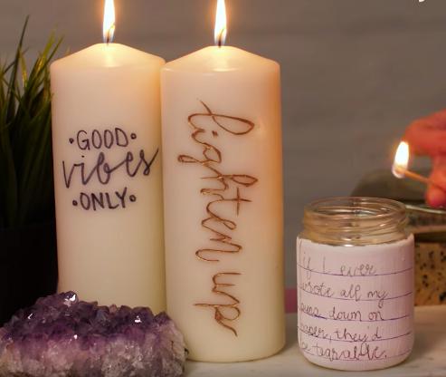 bougies personnaliser