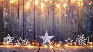 décorations de noël travail hiver fêtes lumières guirlandes