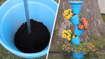 Pots de fleur étagés