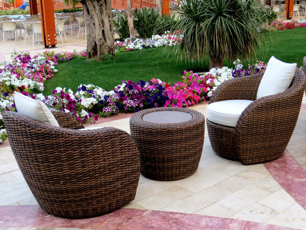 Salon de jardin rond