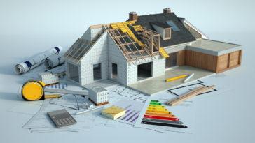 maquette de maison en construction