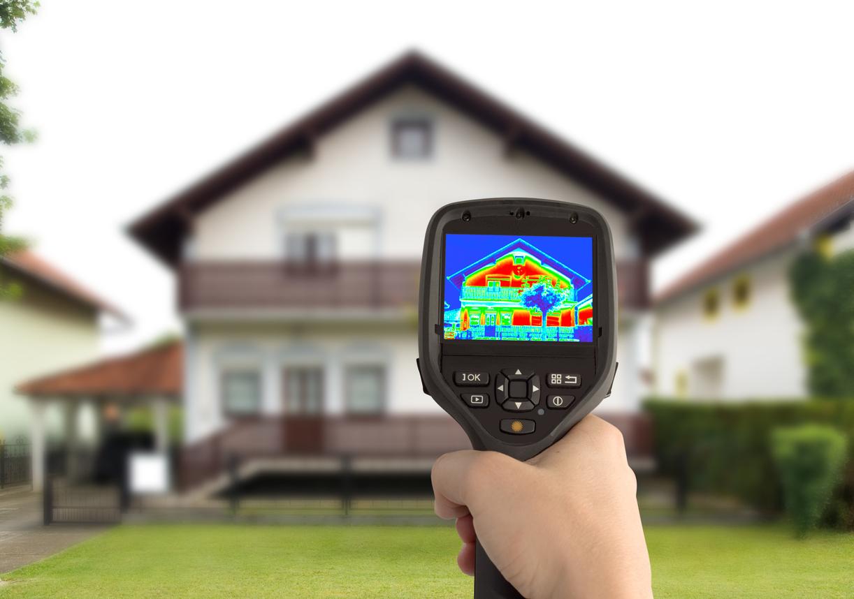 image thermique de l'isolation d'une maison