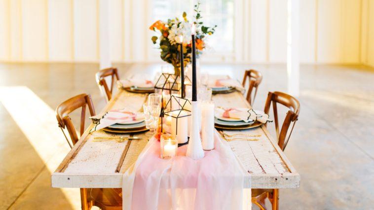 table à manger dressée