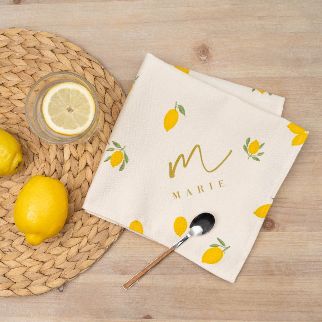 serviettes de table personnalisées