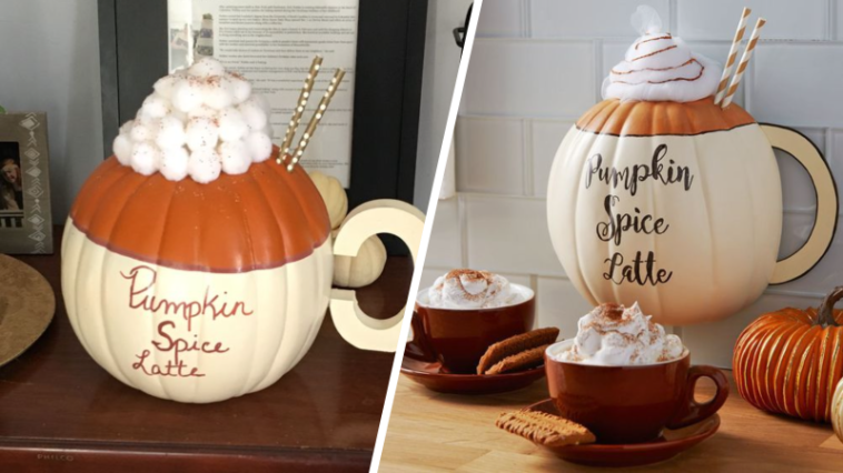 citrouille en pumpkin spice latte